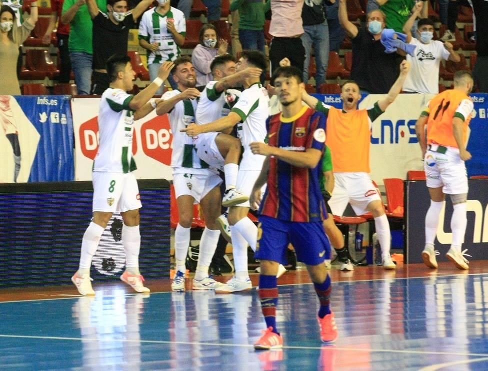 Victoria histórica del Córdoba Patrimonio ante el Barcelona campeón de Europa (3-1)