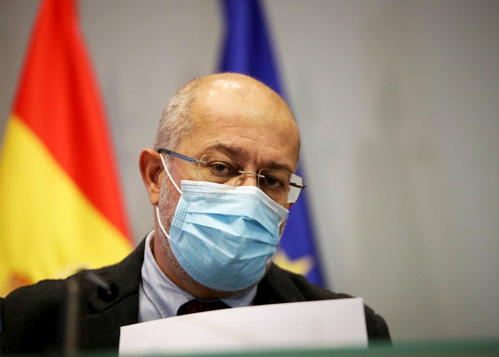El vicepresidente de la Junta, Francisco Igea, y la consejera de Sanidad, Verónica Casado