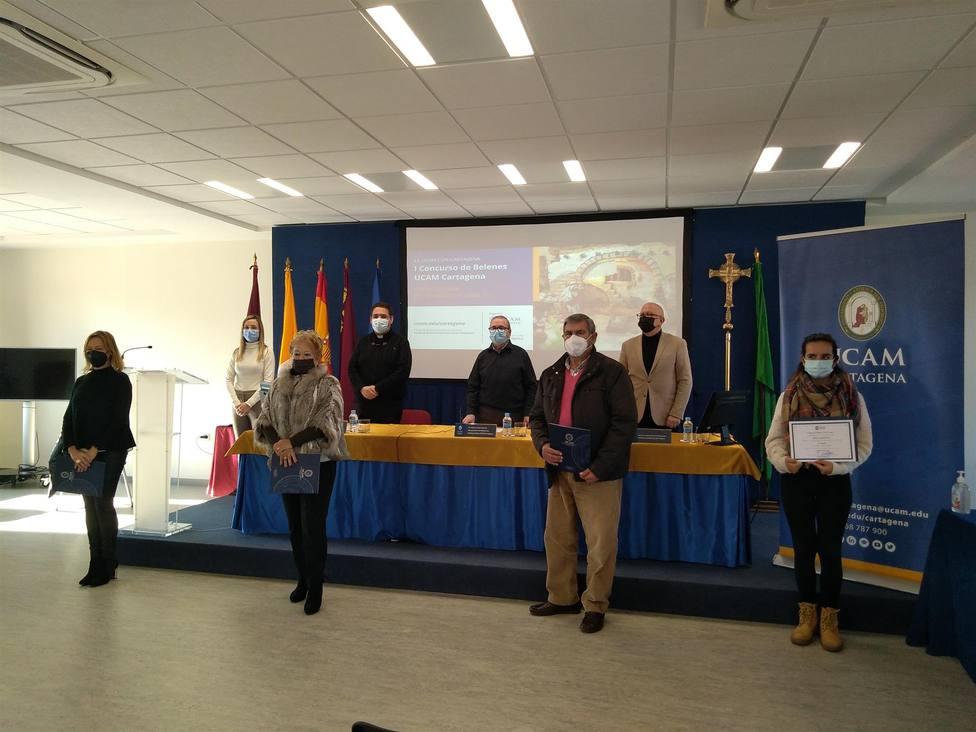 UCAM Cartagena entrega los premios de su primer concurso de belenes