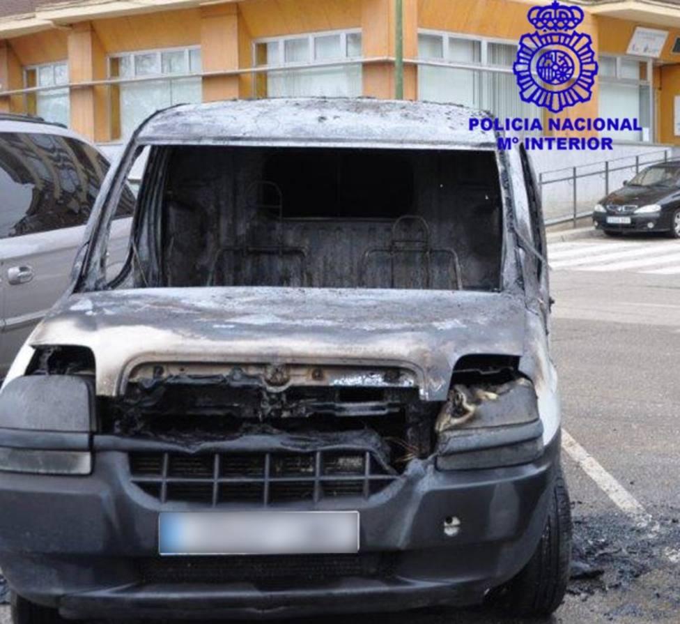 Furgoneta Incendio Vandalismo