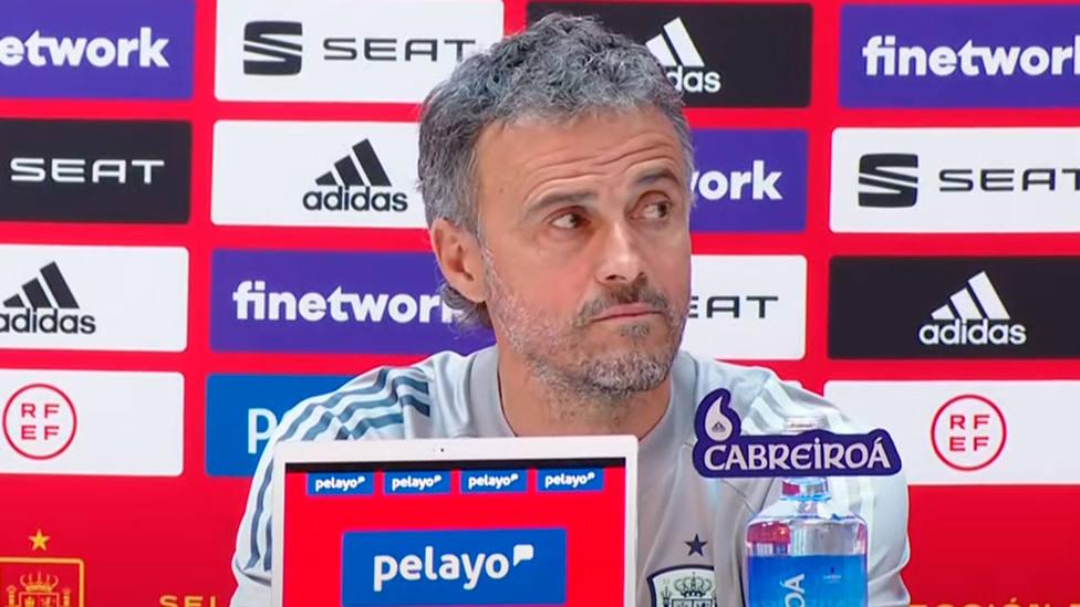 Luis Enrique, seleccionador español, en la rueda de prensa previa al Georgia - España