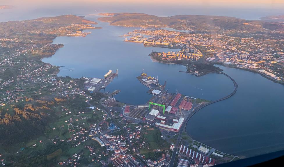 Vista aérea de Ferrolterra - FOTO: Juan DSG