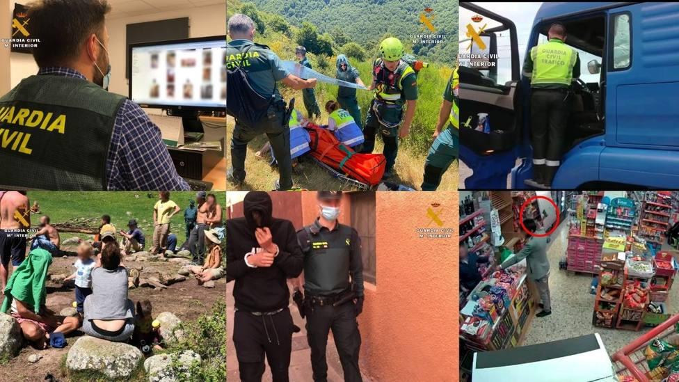 Las actuaciones más destacadas de la Guardia Civil en La Rioja