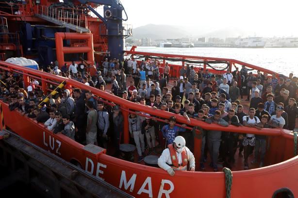 Inmigrantes en el Estrecho. Archivo