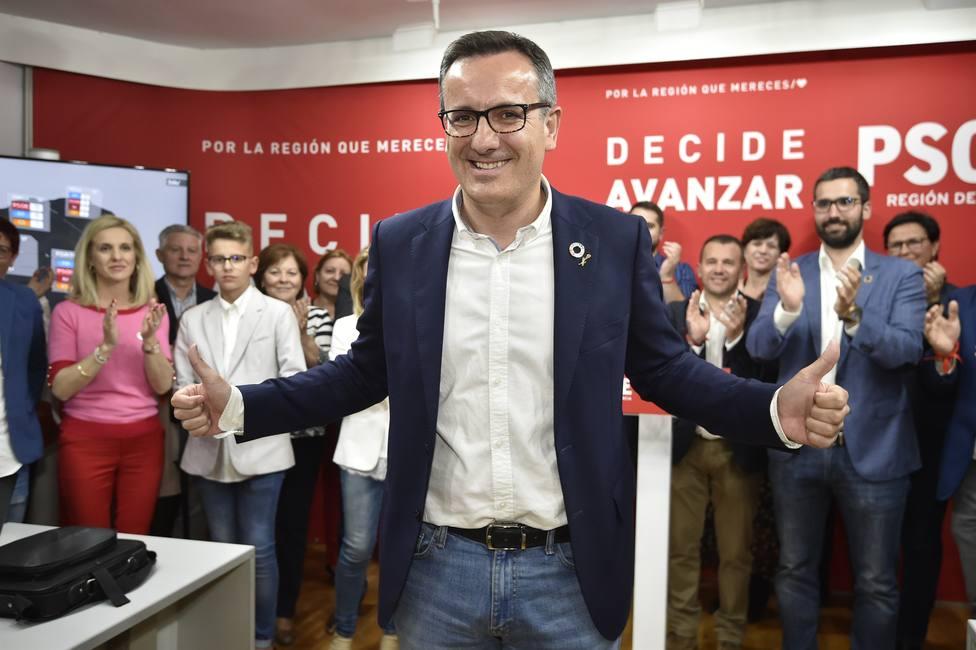 26M-A- Conesa (PSOE) se ve con fuerzas para liderar el cambio en solitario en Murcia y dialogará hasta la extenuación