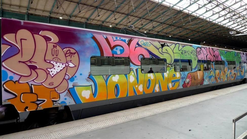 los grafiteros actuaban en trenes e instalaciones ferroviarias