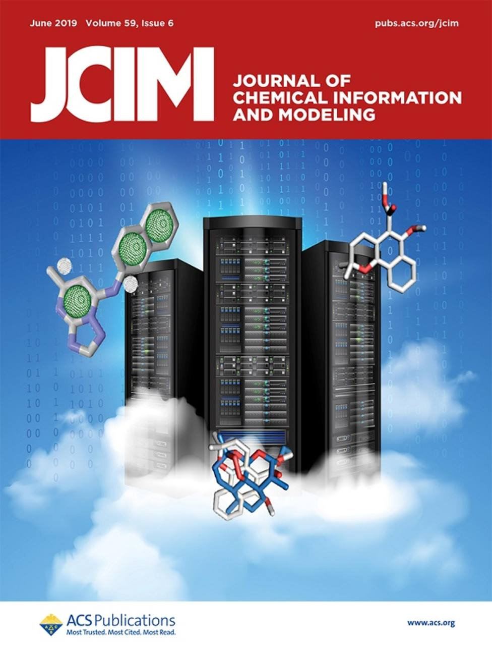 Una investigación de la UCAM, portada del Journal of Chemical Information and Modeling