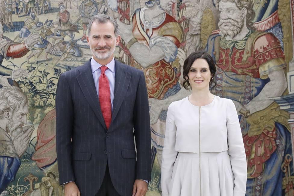 Ayuso traslada al Rey Felipe VI la lealtad de su Gobierno y las preocupaciones de los madrileños