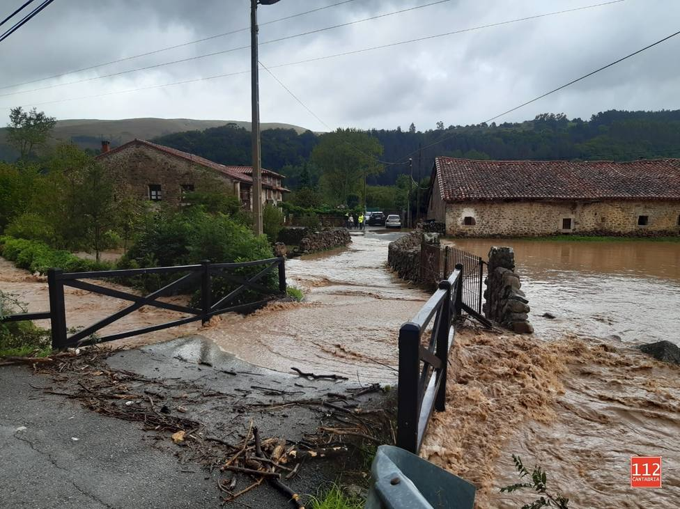 las lluvias fueron intensas en Cantabria