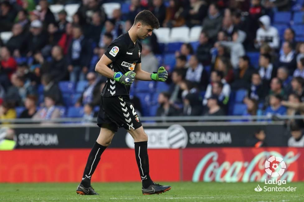 Juan Pérez, guardameta de Osasuna muy contento por debutar en su semana redonda