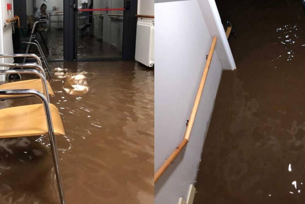 El temporal obliga de madrugada a desalojar una residencia de ancianos en Barruelo por inundaciones