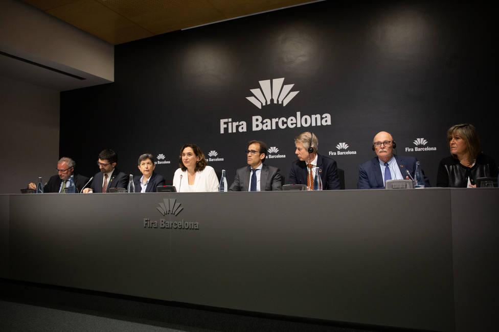Rueda de prensa para informar sobre la cancelación de Mobile World Congress en Barcelona
