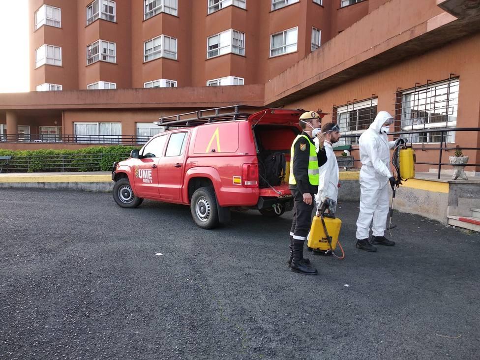 Foto de archivo de la UME en la Residencia de Mayores de Caranza, en Ferrol - FOTO: Cedida