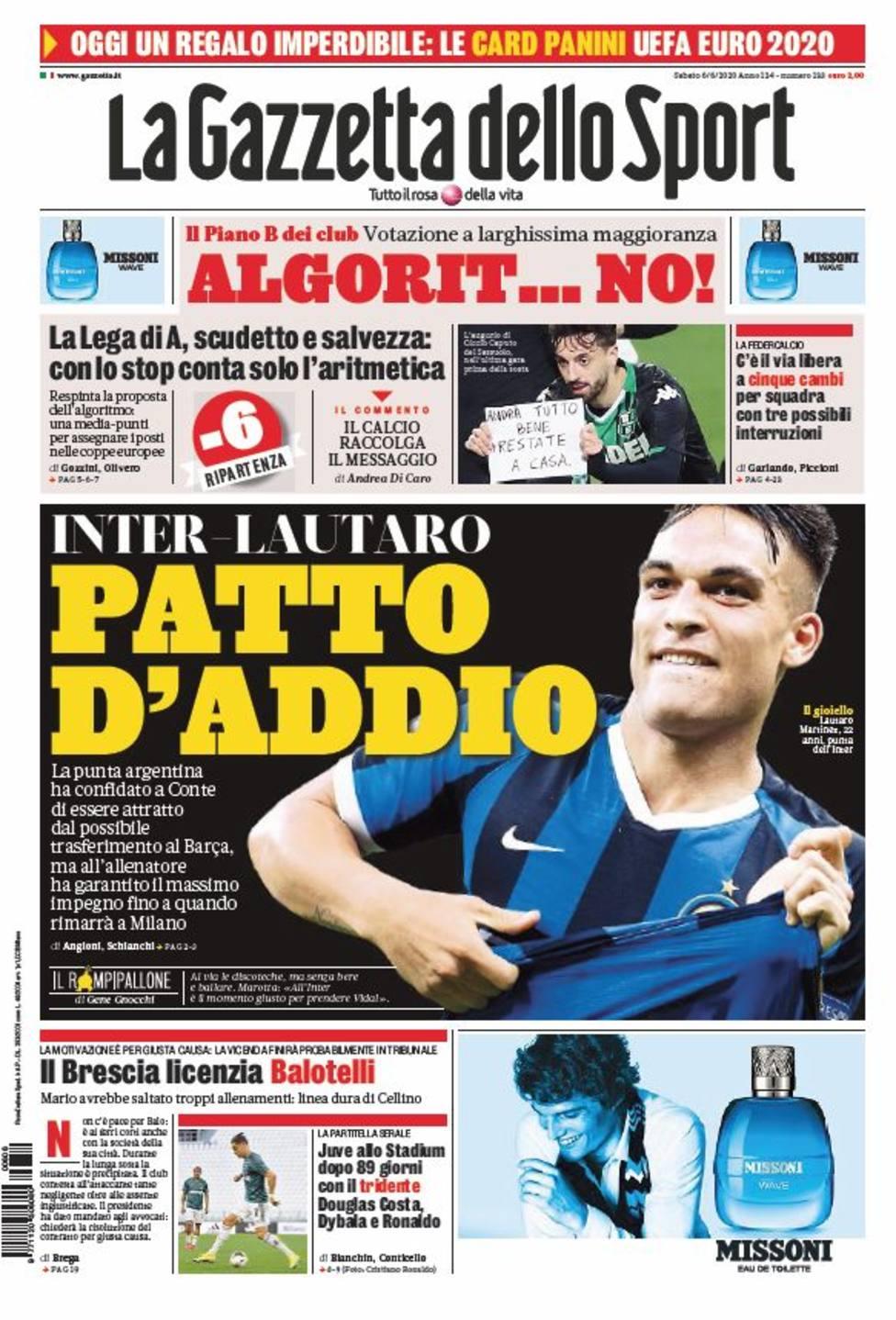 Lautaro ha confesado al Inter que siente atracción por el Barça, según Gazzetta dello Sport