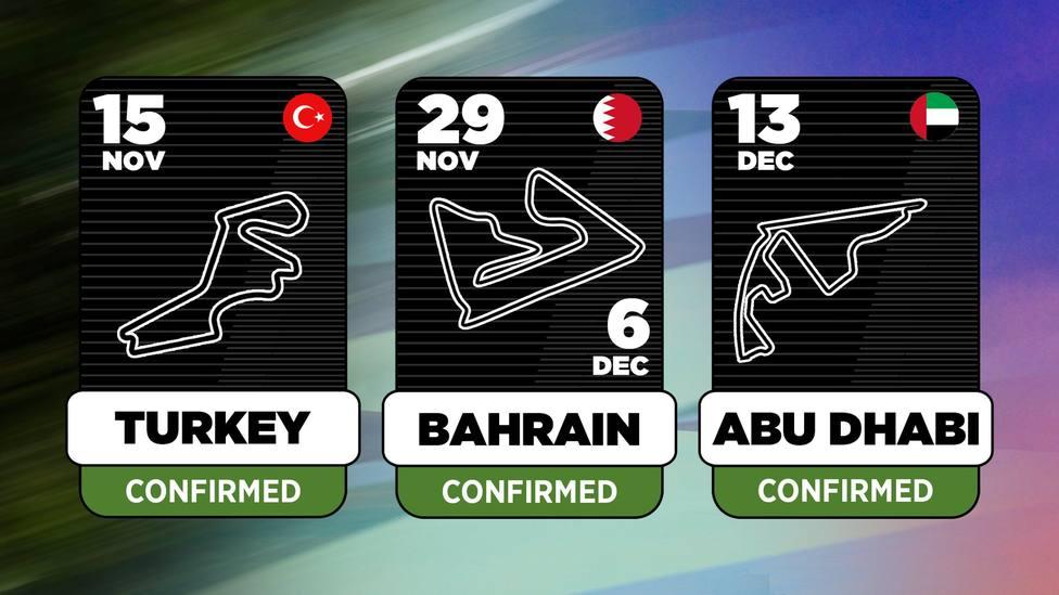 El Mundial de Fórmula Uno tendrá cuatro carreras más este año
