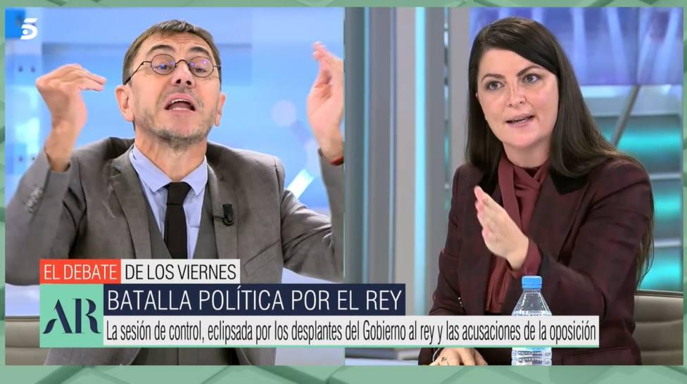 Juan Carlos Monedero y Macarena Olona (Telecinco)