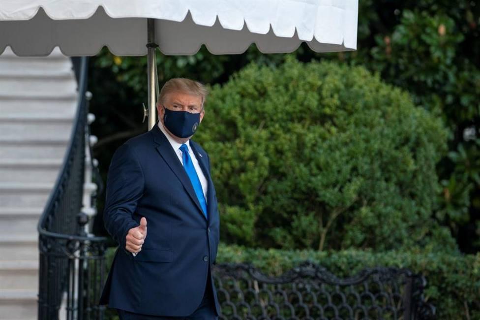 Así ha sido el traslado de Donald Trump desde la Casa Blanca a Walter Reed