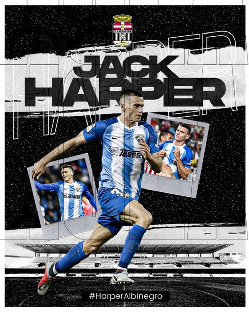 Jack Harper, otro delantero para Borja Jiménez
