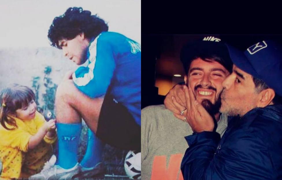 Los hijos de Maradona se despiden de su padre