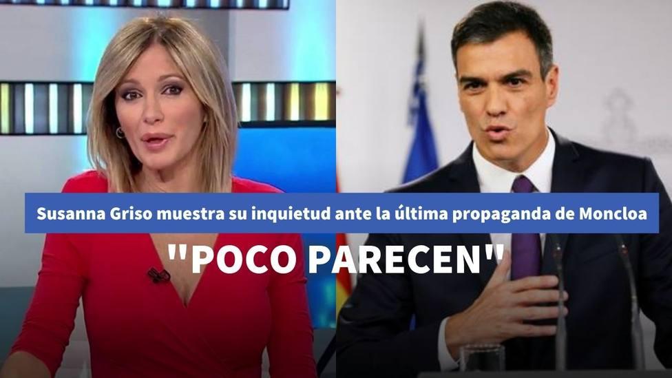 Susanna Griso muestra su inquietud ante la última propaganda de Sánchez: Poco parecen