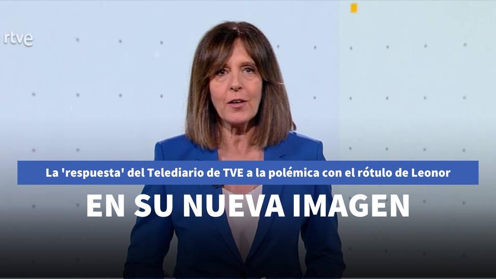 La respuesta del Telediario de TVE a la polémica con el rótulo de Leonor en su nueva imagen corporativa