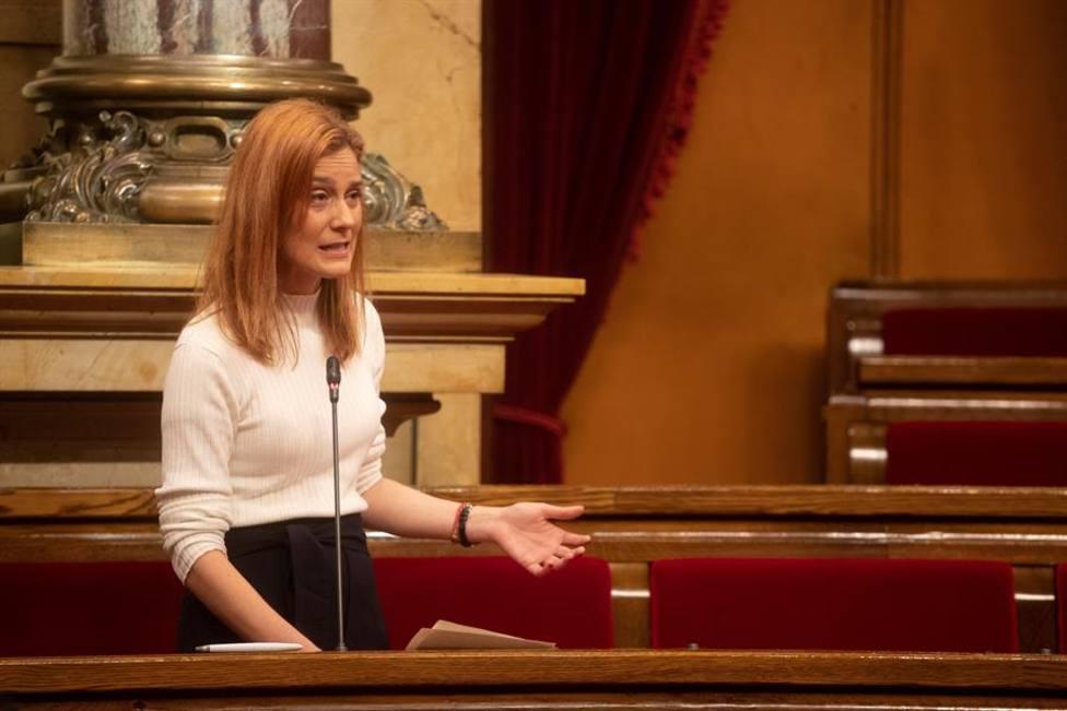 La líder de En Comú Podem, Jéssica Albiach en la Diputación Permanente del Parlament