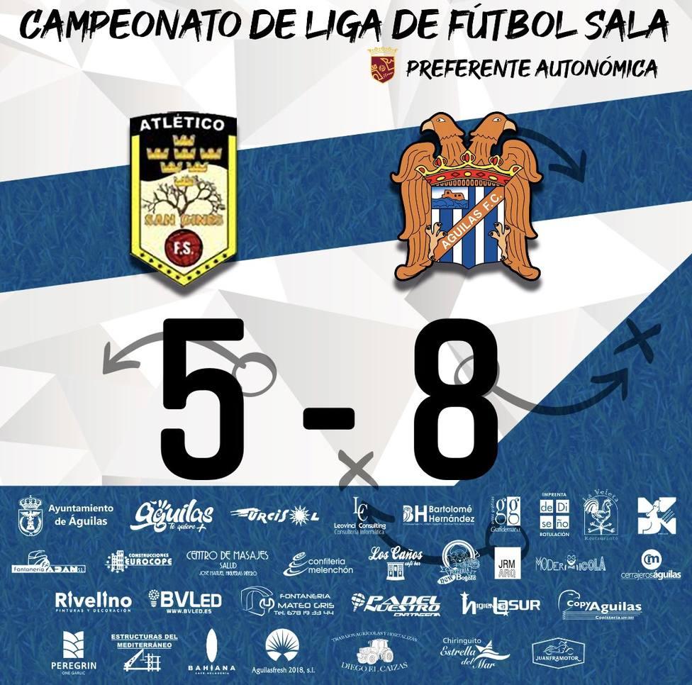 El Águilas FS gana dos partidos seguidos y sigue en racha