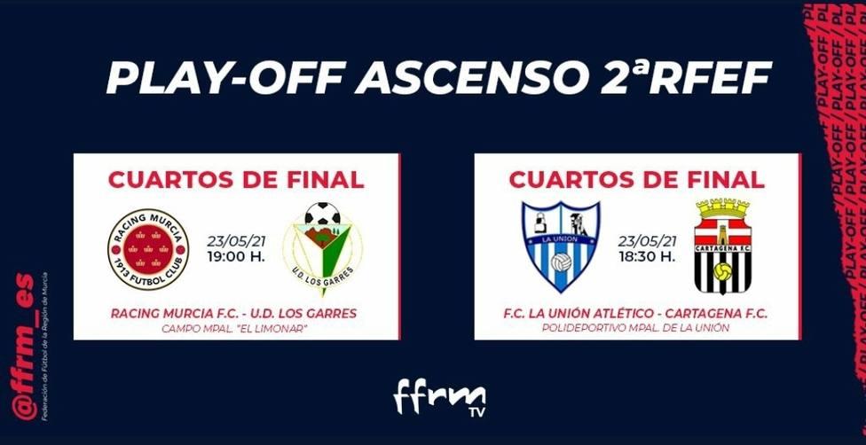 La Unión Atlético - Cartagena FC y Racing Murcia - Los Garres primeras eliminatorias