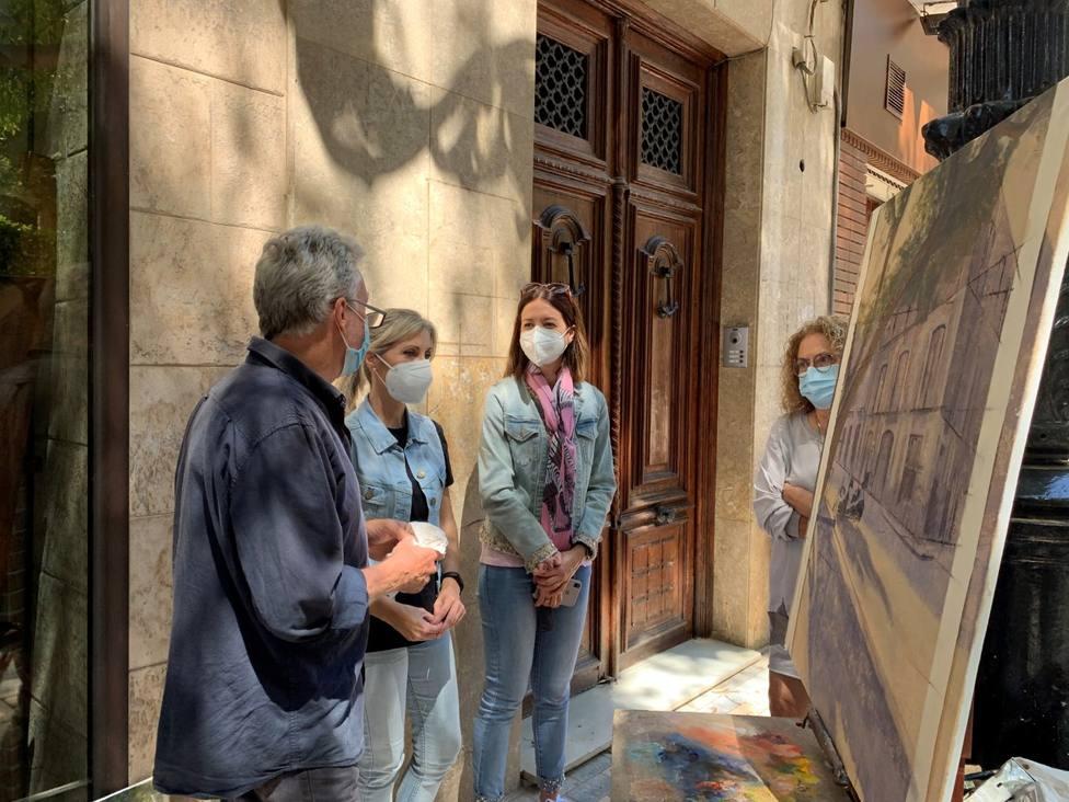 Allan Madsen pintará en directo en Plaza de España esta semana