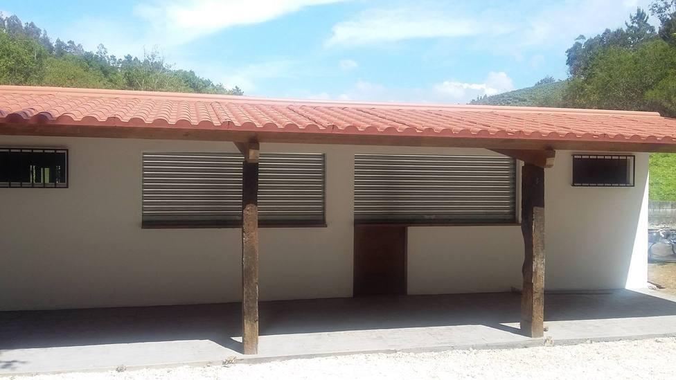 Zona de la cantina del área recreativa de Souto Grande - FOTO: Concello de Moeche