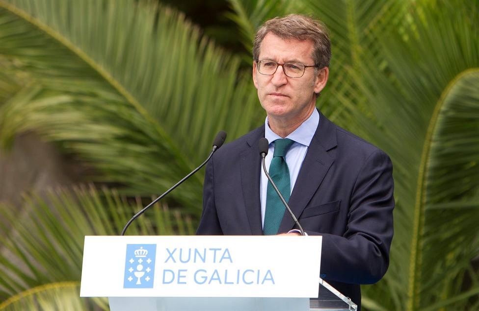 El presidente de la Xunta Alberto Núñez Feijóo