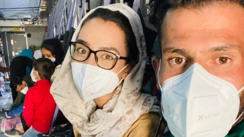 La afgana Bayat y su marido, Ramish