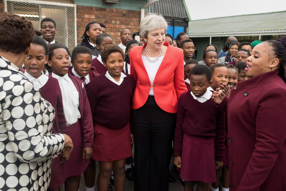 Theresa May en Sudáfrica | EFE