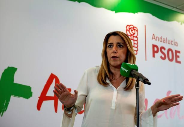 La secretaria general del PSOE-A y presidenta de la Junta y candidata a la reelección, Susana Díaz