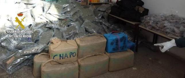 Droga confiscada en la Jonquera