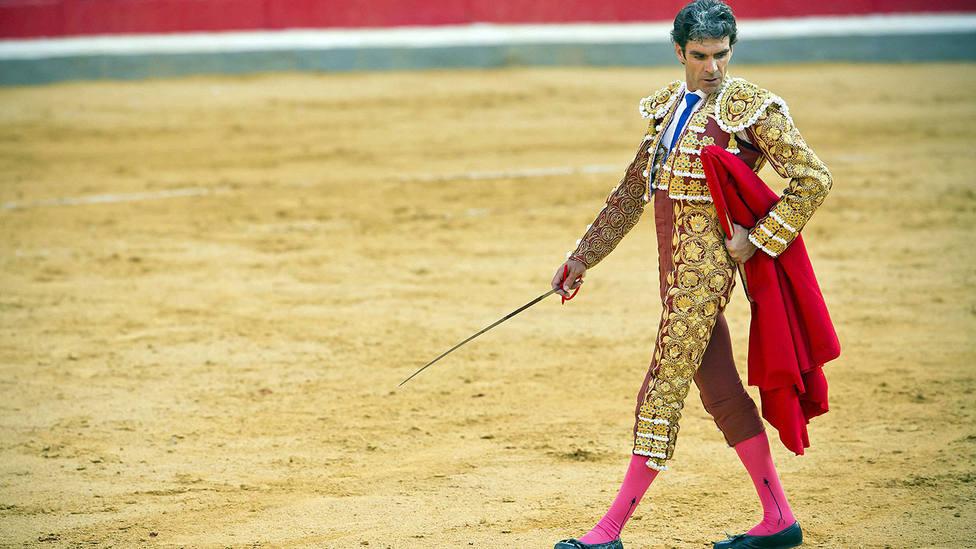 José Tomás durante su última actuación en la plaza de toros de Granada en 2014