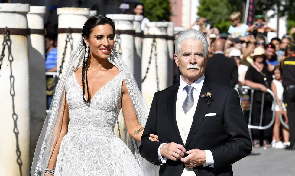 Pilar Rubio during his wedding with Pilar Rubio in Seville on Saturday, 15 June 2019.