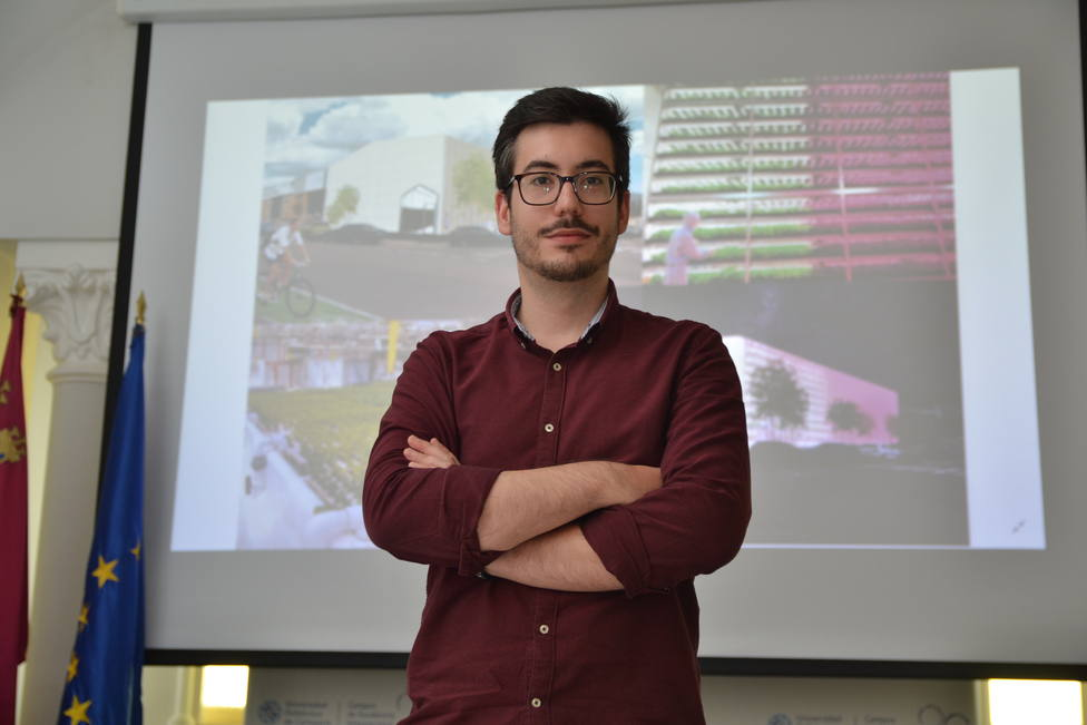 Un ingeniero civil por la UPCT diseña un centro icónico de investigación hidropónica en Cabezo Beaza
