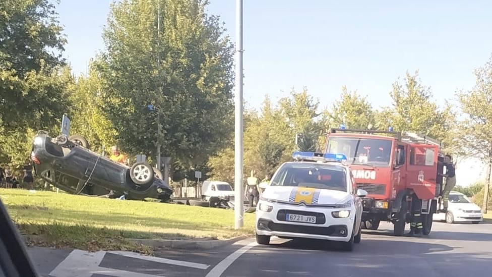 Accidente en la Rotonda de Carrefour
