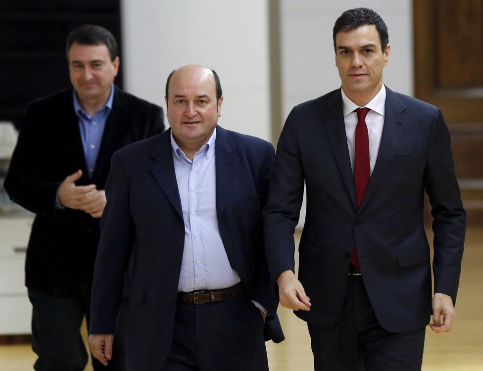SÁNCHEZ CIERRA HOY CON EL PNV SU PRIMERA RONDA DE REUNIONES