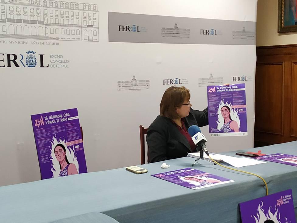 Cristina Prados, concejala de igualdad y mujer, presentó la campaña del 25 N