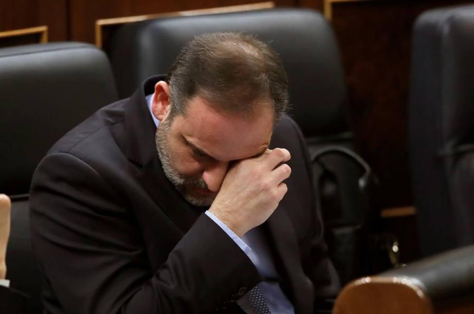 El ministro Ábalos durante la sesión de control al Gobierno en el Congreso