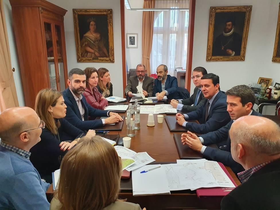 Reunión alcalde y presidente de la Diputación
