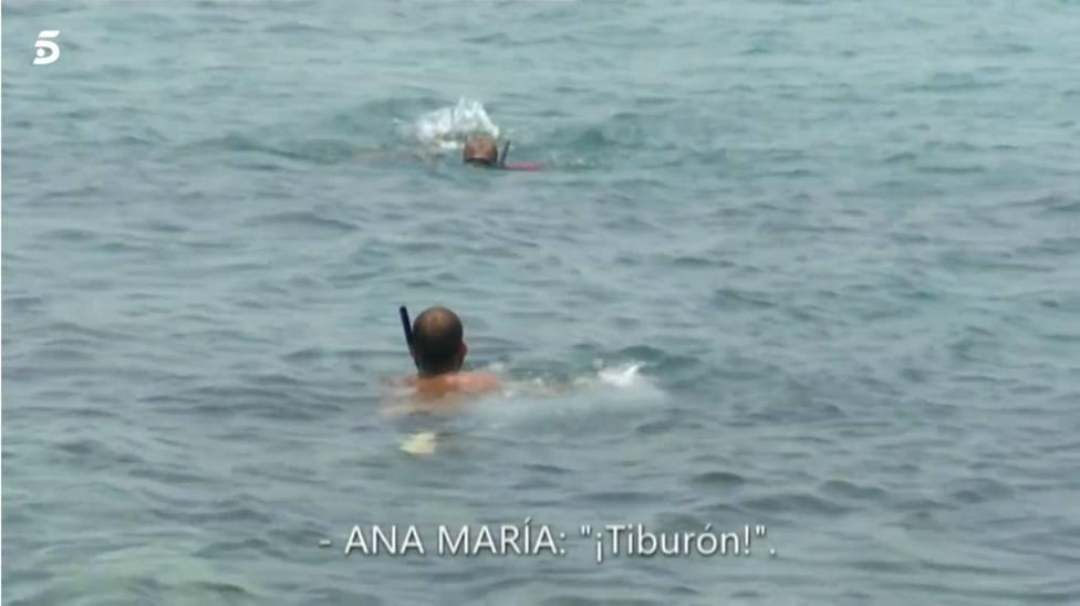 Supervivientes: Avilés rechaza ayudar a Ana maria Aldón ante la presencia de un tiburón
