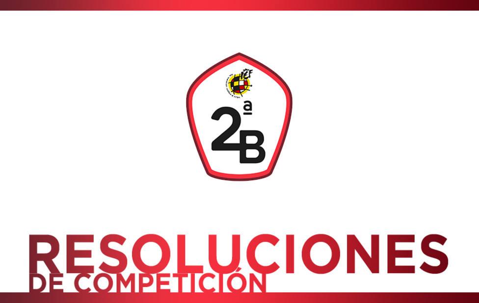 Resoluciones grupos 2ª División B