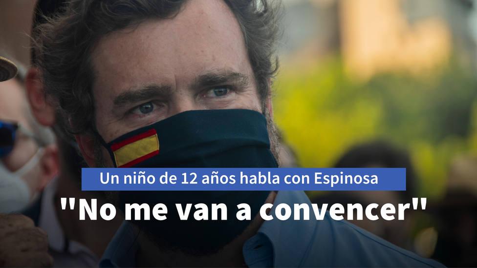 El emocionante mensaje de un niño de 12 años a Espinosa de los Monteros: No me van a convencer