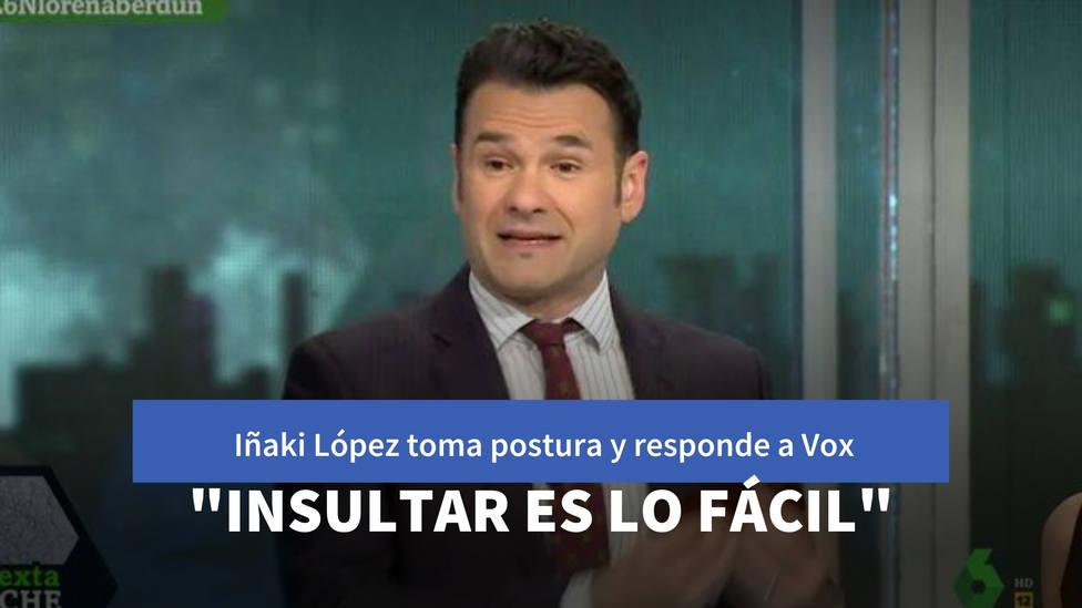 """Iñaki López toma postura y responde así a un tuit de Vox: """"Insultar es más fácil"""""""