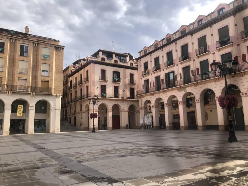 Plaza del Mercado donde habitualmente se celebra la Fiesta del Meracdo