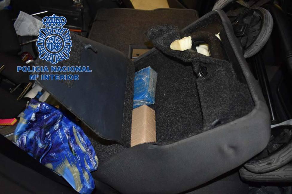 Interior del Vehiculo, que escondia la cocaína