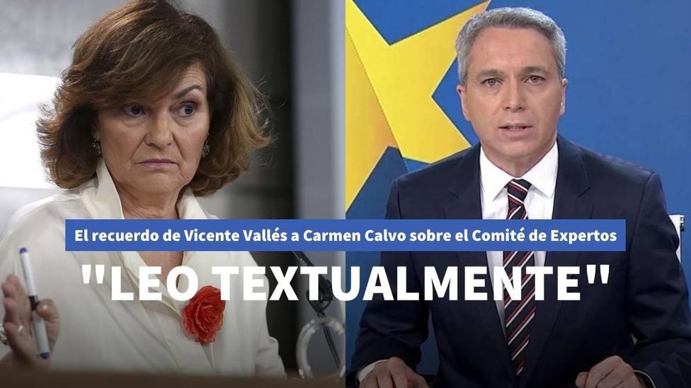 Carmen Calvo y Vicente Vallés
